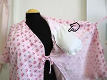 院内着のパッドを挿入するポケット